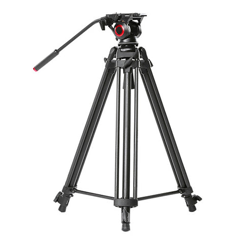 CAME-TV Carbon Fiber Video Tripod With Fluid Bowl Head And Spreader Max Load 22 Lbs 606B