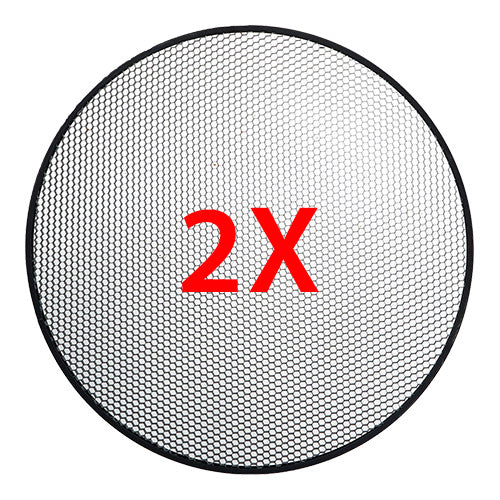 2 Pcs CAME-TV High CRI Bi-Color SMD Led Video Light Round Panel L2500S2KIT