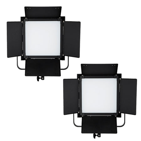 2 Pcs CAME-TV High CRI Bi-Color SMD Led Video Light Square Panel L2000S2KIT