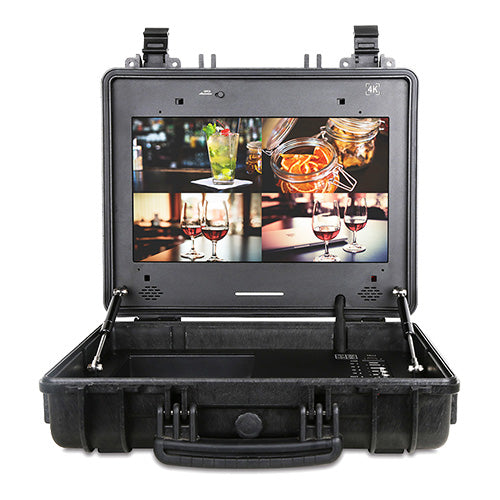 Portable Case 4K HDR 17 Inch Monitor with HDMI and 3G-SDI