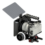CAME-TV Sony Camera Rig 15mm Follow Focus Rod System and Matte Box With Carbon Fiber Flag Package