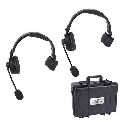 CAME-TV WAERO Duplex Digital Wireless Headset Communication Devices with Hardcase 2 Pack