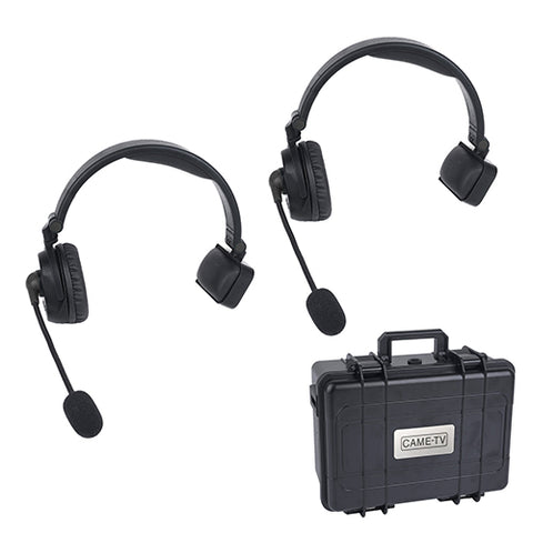CAME-TV WAERO Duplex Digital Wireless Foldable Headset with Hardcase 2 Pack