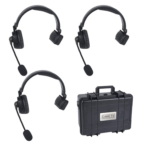 CAME-TV WAERO Duplex Digital Wireless Headset Communication Devices with Hardcase 3 Pack