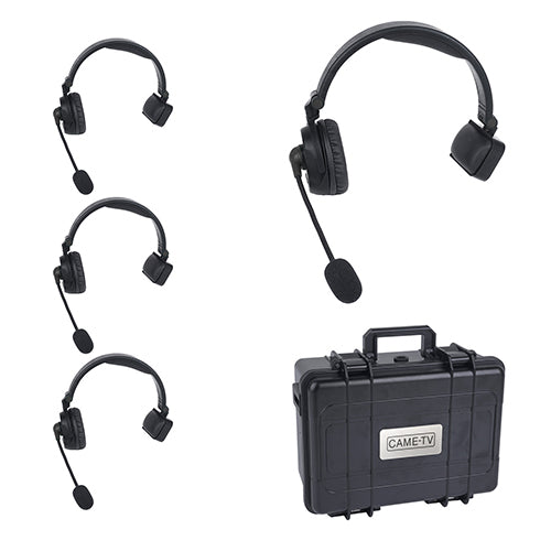 CAME-TV WAERO Duplex Digital Wireless Headset Communication Devices with Hardcase 4 Pack
