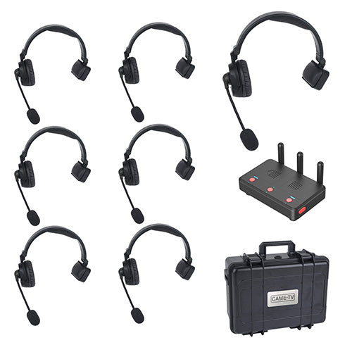 CAME-TV WAERO Duplex Digital Wireless Headset Communication Devices with Hub 7 Pack