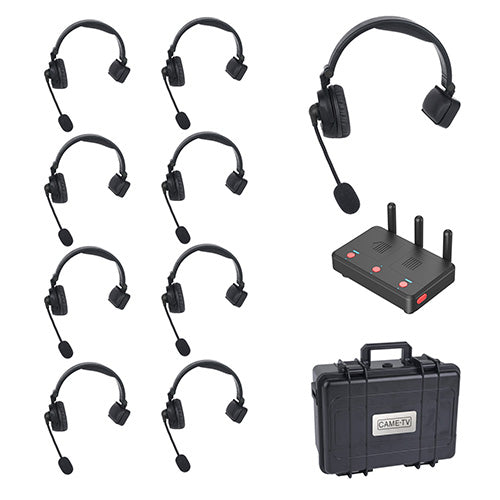 CAME-TV WAERO Duplex Digital Wireless Foldable Headset with Hub 9 Pack