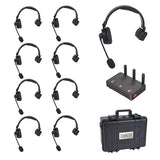 CAME-TV WAERO Duplex Digital Wireless Headset Communication Devices with Hub 9 Pack