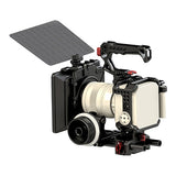 CAME-TV Z Cam E2 Cage Kit, 15mm Follow Focus Rod and Matte Box With Carbon Fiber Flag Package