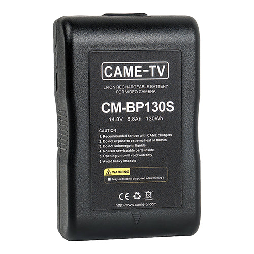 CAME-TV Compact V-Mount Li-Ion Battery 130Wh Easy Grip