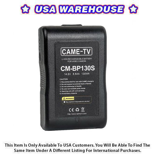 CAME-TV Compact V-Mount Li-Ion Battery 130Wh Easy Grip - USA Warehouse