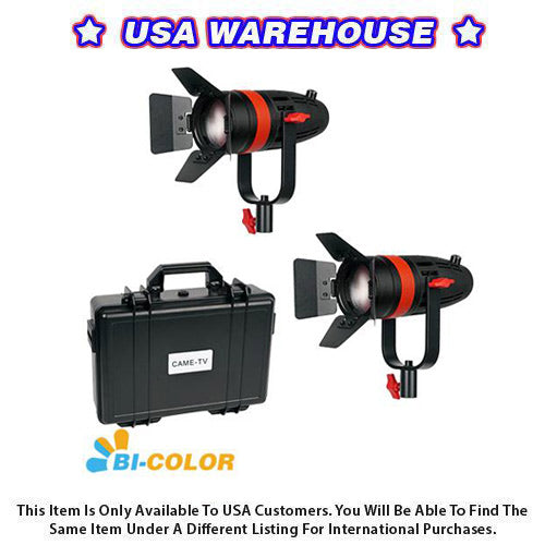 2 Pcs CAME-TV Boltzen 55w Fresnel Focusable LED Bi-Color Kit - USA Warehouse