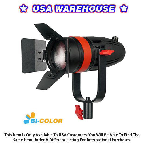 1 Pc CAME-TV Boltzen 55w Fresnel Focusable LED Bi-Color With Bag - USA Warehouse