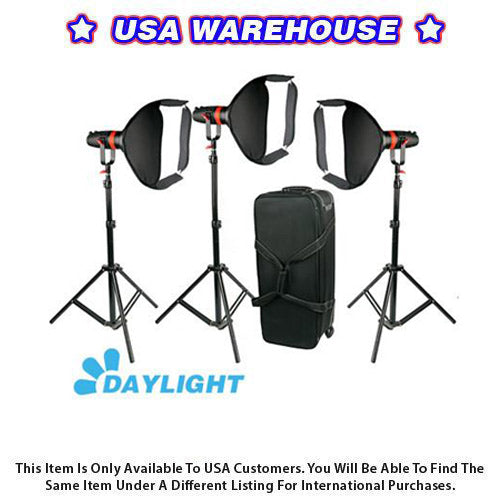 3 Pcs CAME-TV Boltzen 55w Fresnel Focusable LED Daylight Package - USA Warehouse