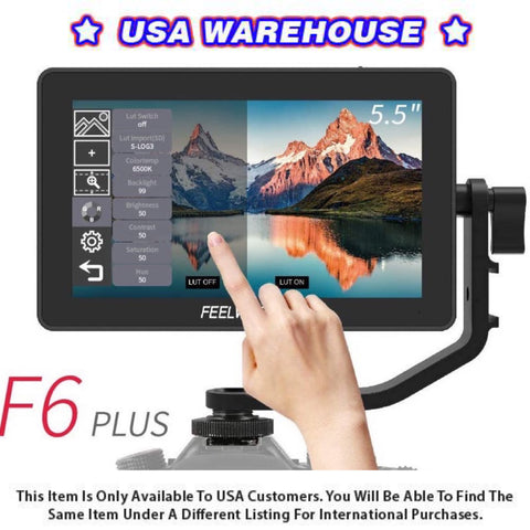 FEELWORLD F6 Plus 5.5inch Touch IPS Screen 1920X1080 4K HDMI Camera Monitor - USA Warehouse