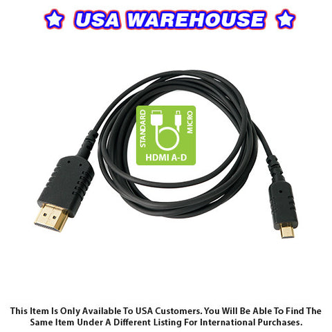 CAME-TV 6 Foot Ultra-Thin and Flexible HDMI Cable AD - USA Warehouse