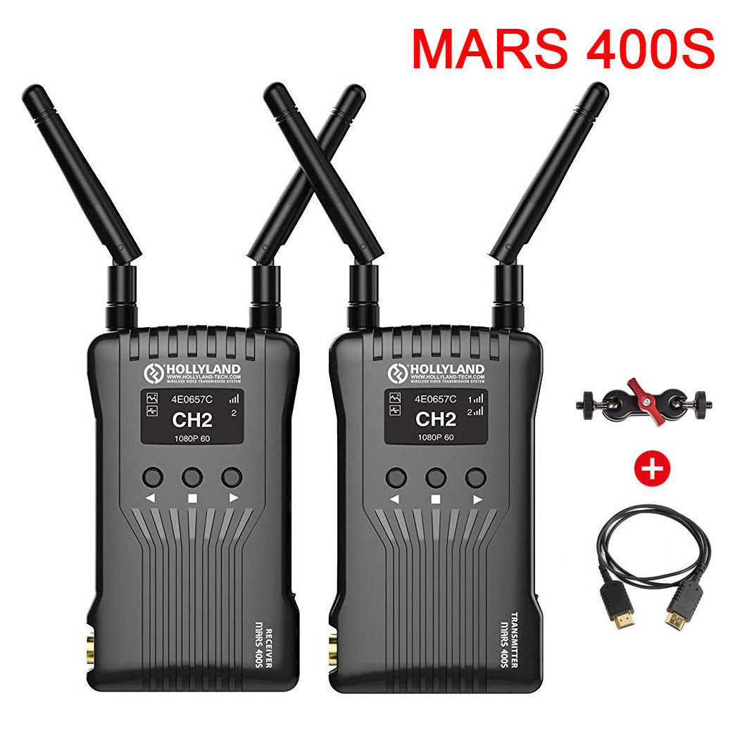 Hollyland Mars 400S Wireless Transmission System Transmitter & Receiver