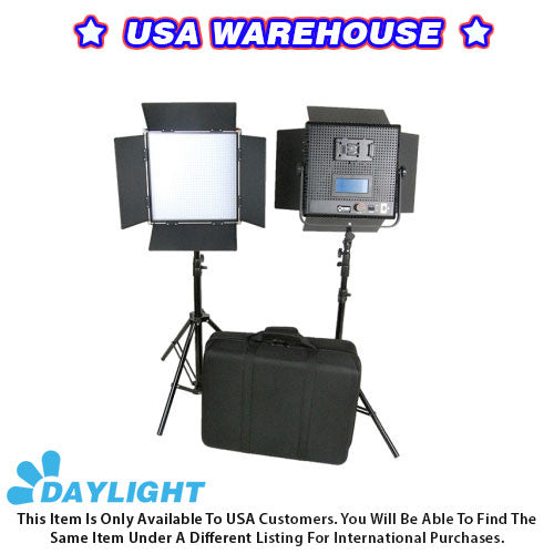 CAME-TV High CRI 2 X 1024 LED Video 5600K Broadcast Panel Light - USA Warehouse