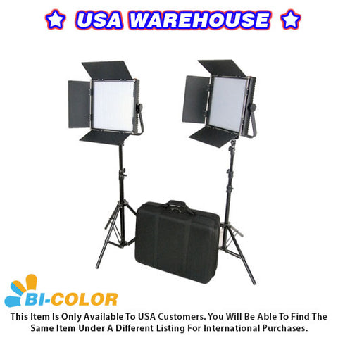 CAME-TV High CRI Bi-Color 2 X 1024 LED Video Lights TV Lighting - USA Warehouse