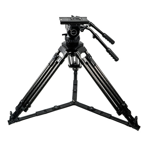 Professional Carbon Fiber Tripod With Fluid Head Max Load 29.6kg