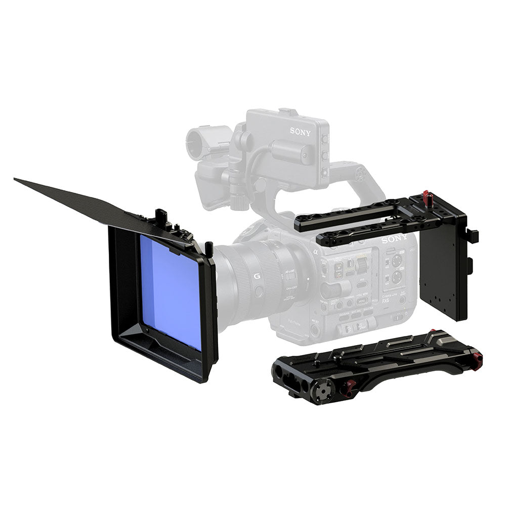 Shoulder Base Plate, V-Mount Battery Plate and Mattebox For Sony FX6