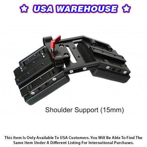 CAME-TV DSLR Shoulder Support For 15mm Rod System - USA Warehouse