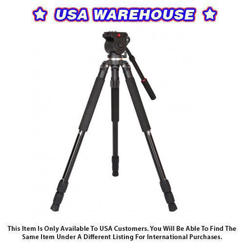 CAME-TV Tripod Max Load 5 Kg Camera Aluminium Hydraulic Head - USA Warehouse