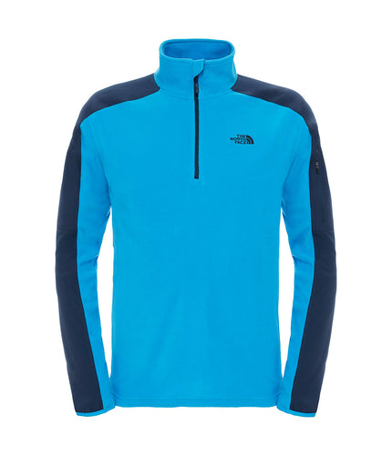 The North Face 100 Glacier 1/4 Zip Jacket Blue Banff Blue