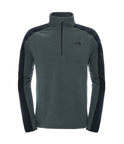 The North Face 100 Glacier 1/4 Zip Jacket Fusebox Grey Black Heather
