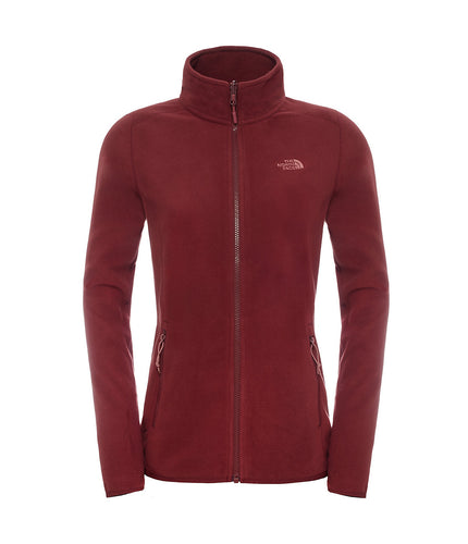The North Face 100 Glacier 1/4 Zip Jacket Deep Garnet