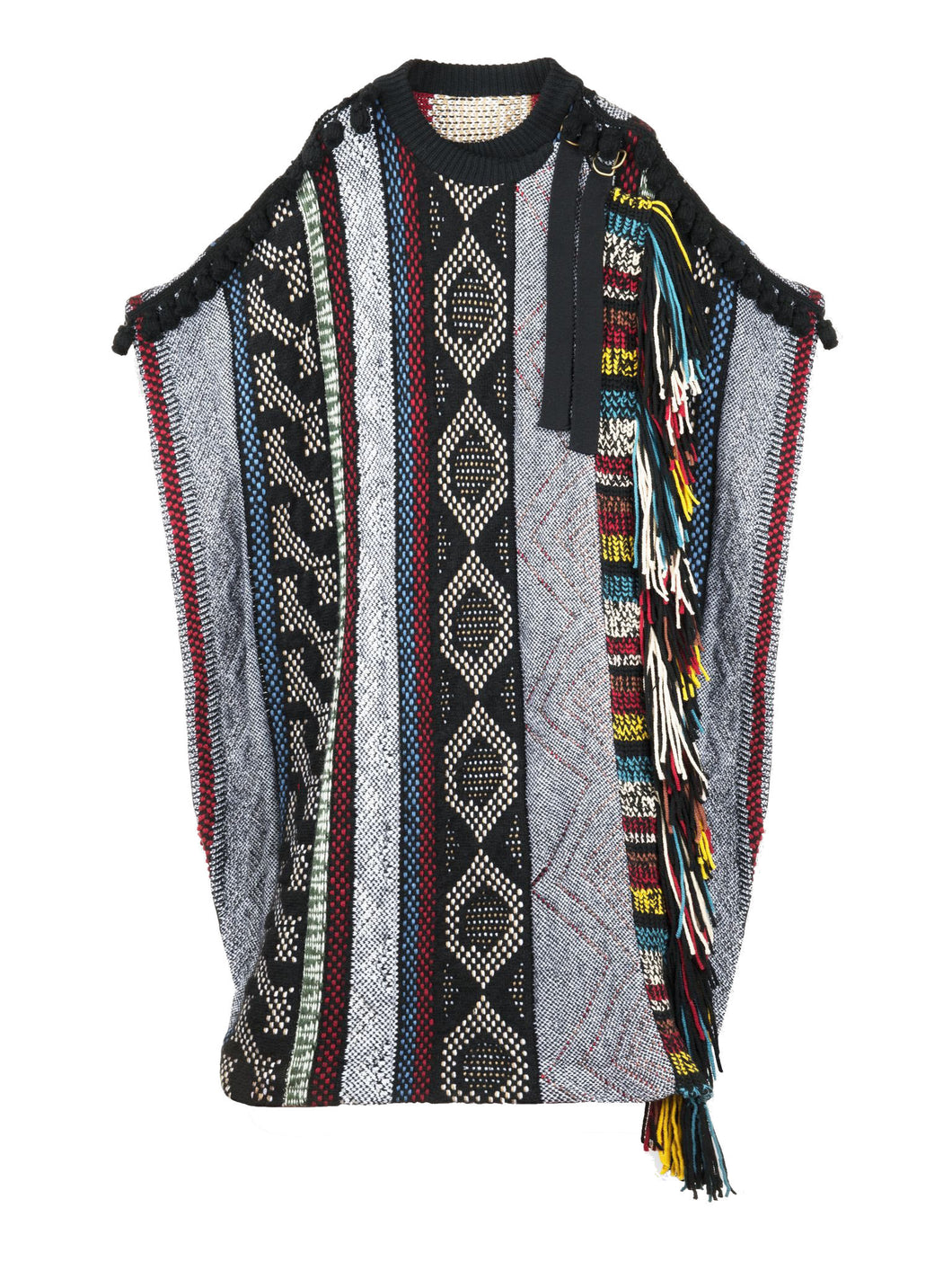 Chloé Fringed Cape Multicoloured