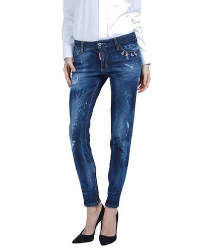 DSquared2 Medium Waist Skinny Jeans Blue