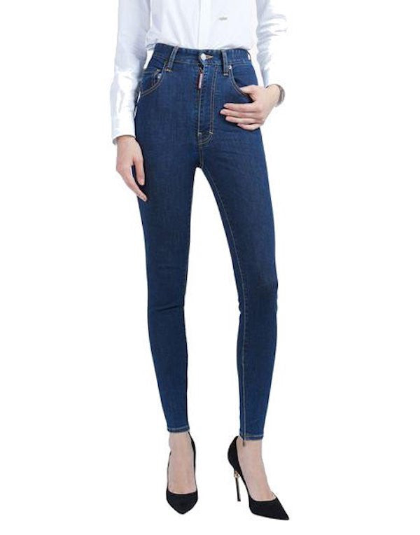 DSquared High Waist Skinny Jeans Blue