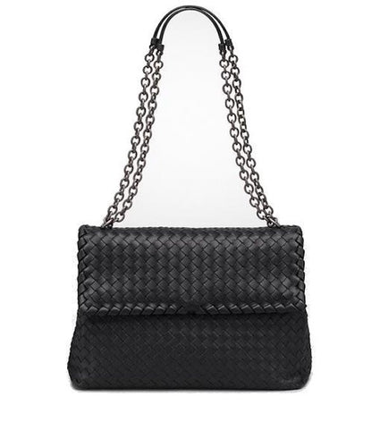 cd47713583 Bottega Veneta Medium Intrecciato Nappa Olimpia Bag Black