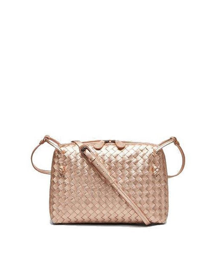 02ad8f9736 Bottega Veneta Intrecciato Uros Grain Messenger Bag Rose Gold