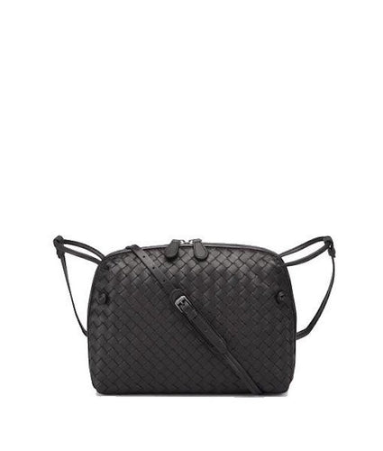 04f6bea01c Bottega Veneta Intrecciato Uros Grain Messenger Bag Black