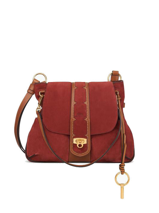 Chloé Lexa Cross-Body Bag Saffron Red