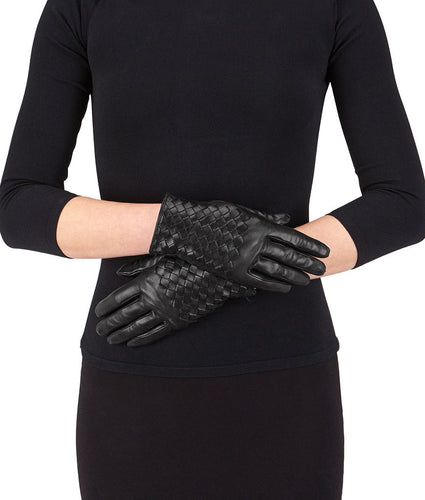 Bottega Veneta Gloves in Nero Nappa