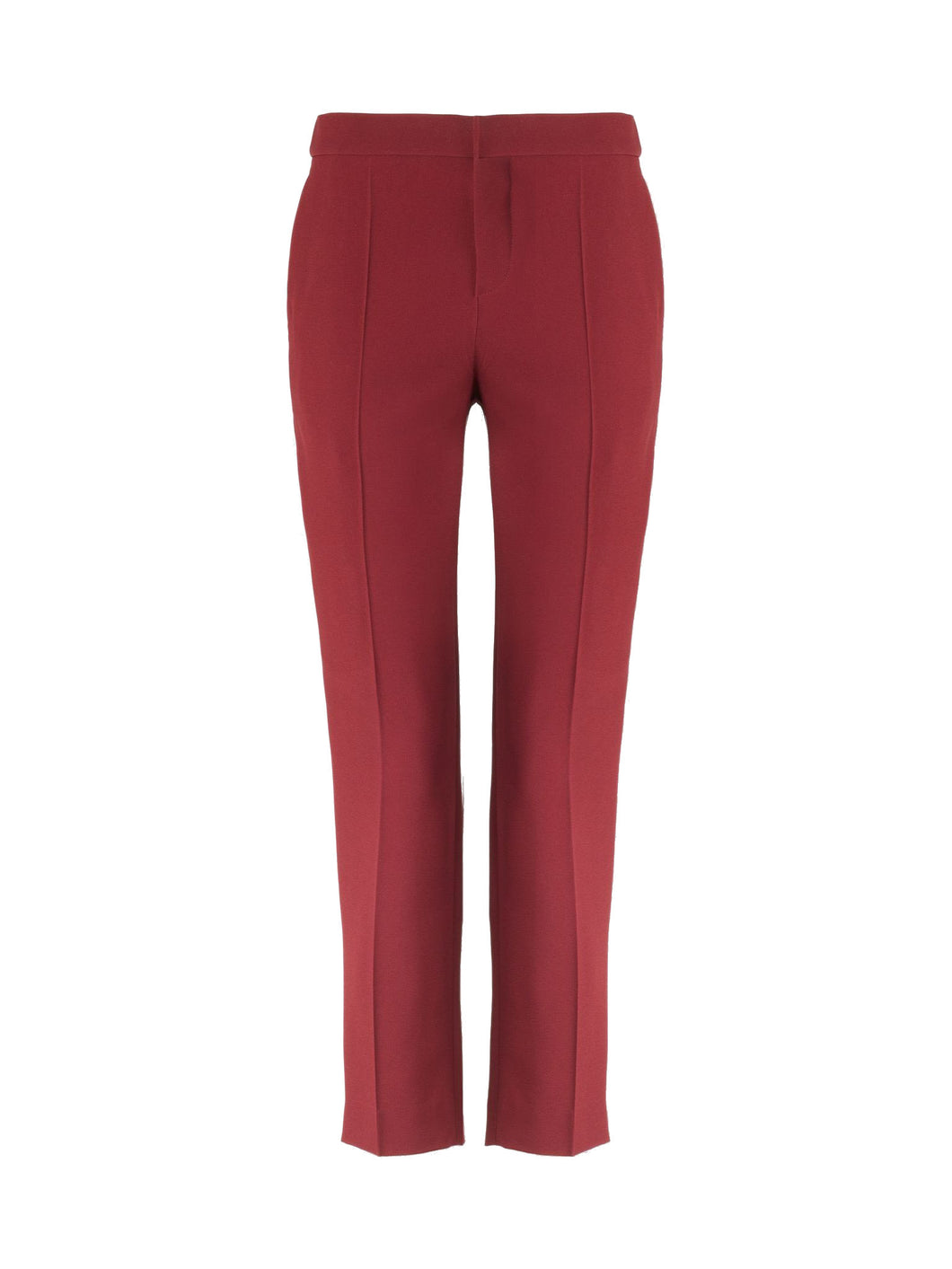 Chloé Slim Pants Dark Red