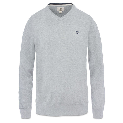 Timberland Williams River V-Neck Jumper Medium Grey Heather