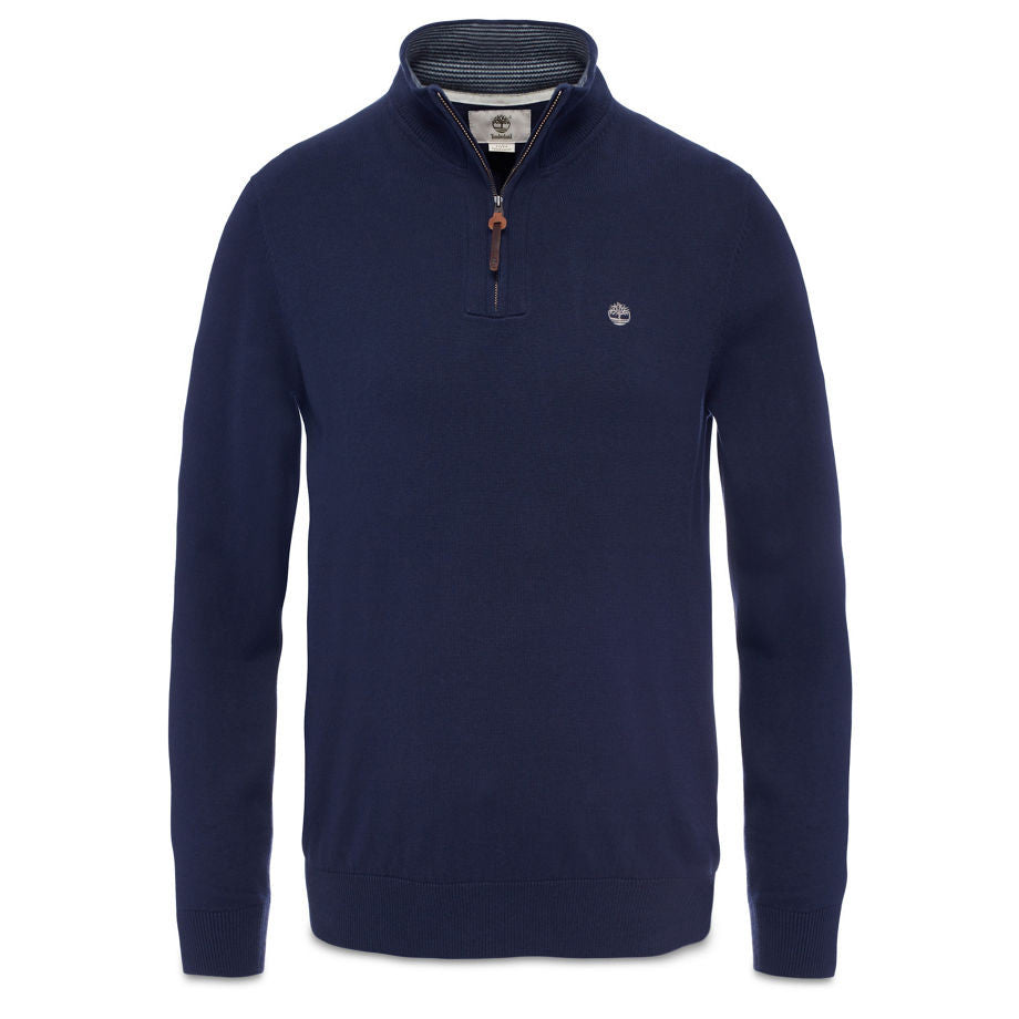 Timberland Williams River Zipped Cotton Jumper Dark Sapphire
