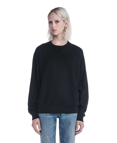 Alexander Wang Soft French Terry Sweatshirt Black