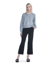T by  Alexander Wang Cropped Jumper Blue Grey