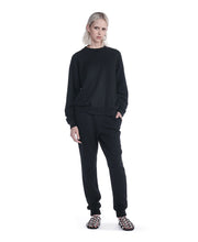 T by Alexander Wang Soft French Terry Long Sweat Pants Black