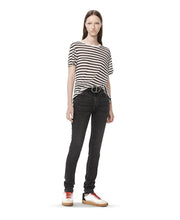 T by Alexander Wang Striped T-shirt White/Navy Blue