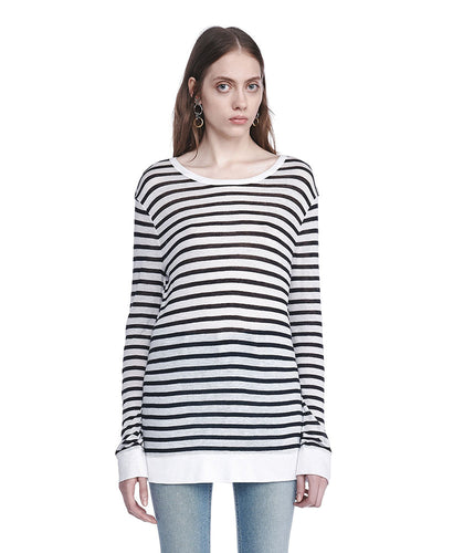 T by Alexander Wang Striped T-shirt Ink/Ivory