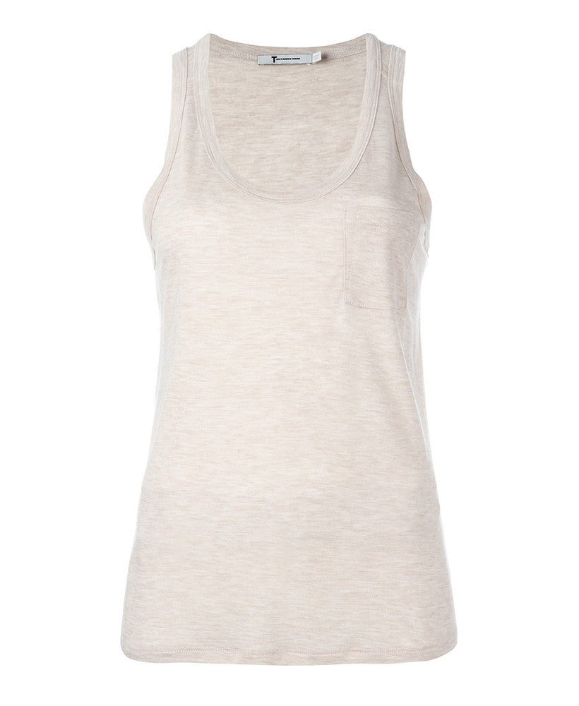 T by Alexander Wang Scoop Neck Tank Top Blush