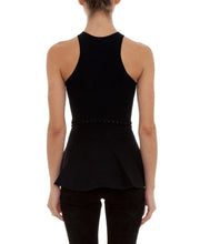 Alexander Wang Shortrow Flared Tank Top Black