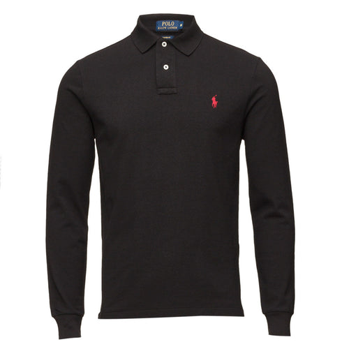 Polo Ralph Lauren Long Sleeve Comfort Fit Polo Shirt Polo Black