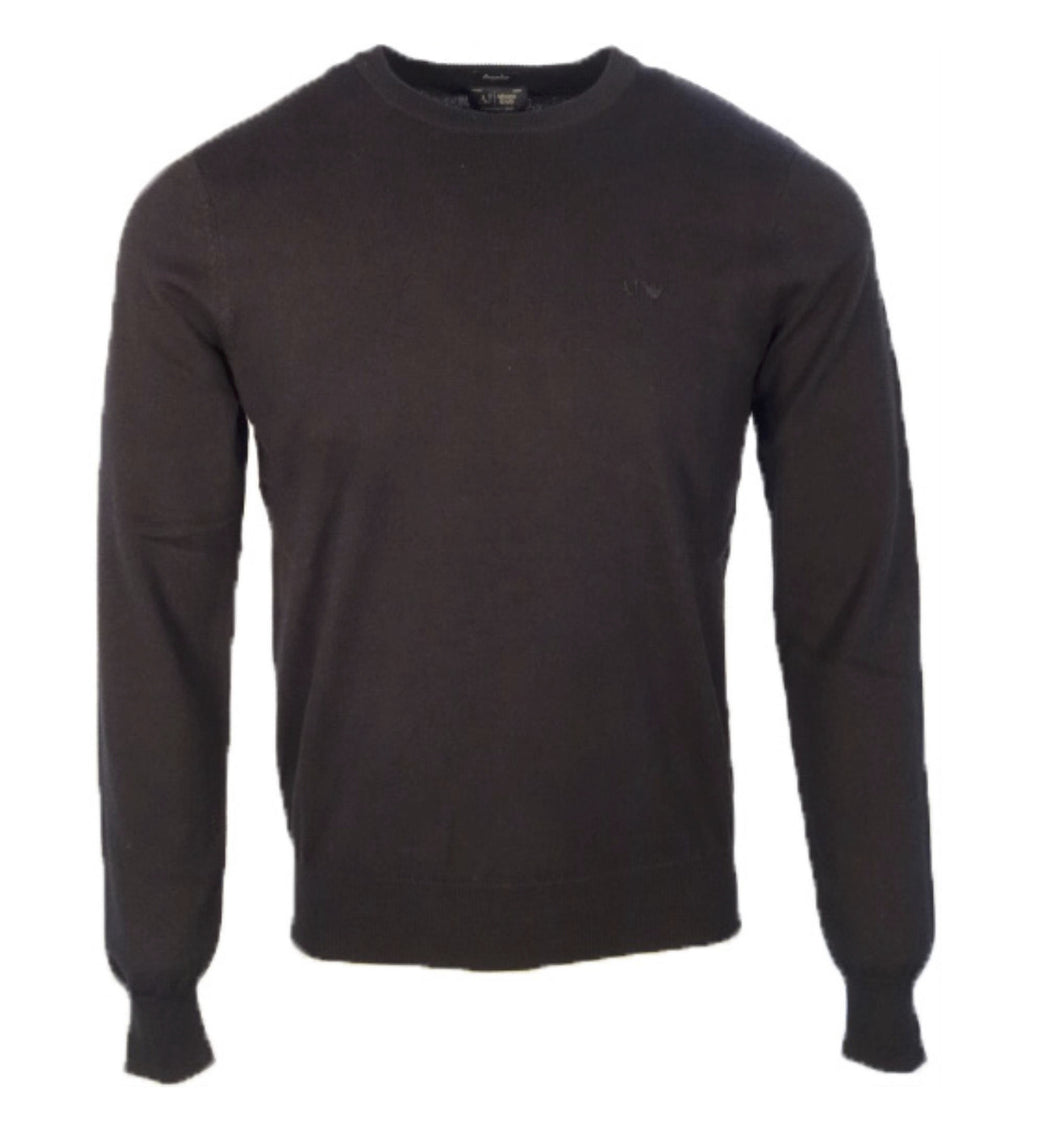Armani Jeans Crew Neck Sweater Charcoal